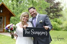 The Sampsons wedding sign at Elope Niagara Wedding Chalkboards, Chalkboard Wedding, Chapel Wedding, Wedding Signs, Niagara Falls Wedding, Wedding Photos, Wedding Dresses, Wedding Plaques, Marriage Pictures