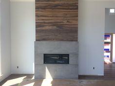 Concrete Fireplace, Fireplace Surrounds, Interior Inspiration, Google Search, Home Decor, Homemade Home Decor, Decoration Home, Fireplace Mantel, Fireplaces