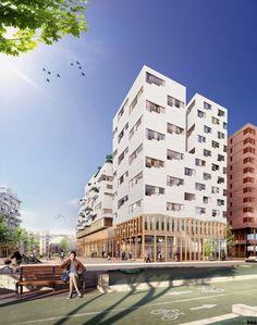 SOA Architects Paris > Projects > Tolbiac T7B2  Commerce au RDC changement langage