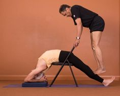 98 best iyengar yoga chair back bends images  iyengar