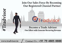 Join Our sales department By Becoming Our Registered Channel Partner Become a Trade Advisor one Effort with Generate Recurring Revenue #business #entrepreneur #marketing #success #money #entrepreneurship #startup #smallbusiness #businessowner #mindset #digitalmarketing #work #life #goals #design #branding #investment #business #finance #socialmedia #Tradvisor Business Entrepreneur, Life Goals, Entrepreneurship, Mindset, Effort, Digital Marketing, Finance, Investing, How To Become
