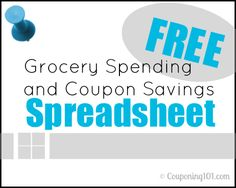 Free Grocery Spending and Coupon Savings Spreadsheet Tracker for 2013