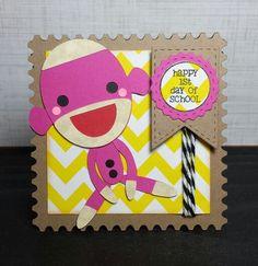 Handmade Back To School/Sock Monkey Card