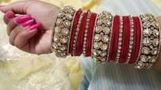 Beautiful bridal chooras these are the latest 2018 bridal chura designs , designer wear collection of new latest bridal churas you can also watch my more videos … source Silk Bangles, Bridal Bangles, Bridal Jewelry, Silver Bracelets, Gold Jewellery, Bangle Bracelets, Silver Earrings, Necklaces, Indian Jewelry Sets
