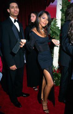 """Aaliyah and Rashad& parents must be proud of both of them. Aaliyah always looks nice. She can pull any look off. Rip Aaliyah, Aaliyah Style, Aaliyah Albums, Aaliyah Outfits, Beautiful Black Women, Beautiful People, Brooklyn, Aaliyah Haughton, The Jacksons"