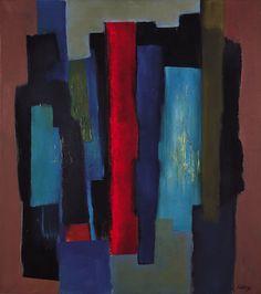Fritz Winter - Open Black, 1967, oil on canvas, 90 x 80 cm