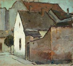 ۩۩ Painting the Town ۩۩ city, town, village & house art - Corneliu Baba - Landscape from Caransebes 1932 Popular Paintings, Post Impressionism, Urban Art, Painting Inspiration, New Art, Painting & Drawing, Landscape Paintings, Modern Art, Art Projects