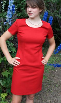 Vintage Red Pencil Dress