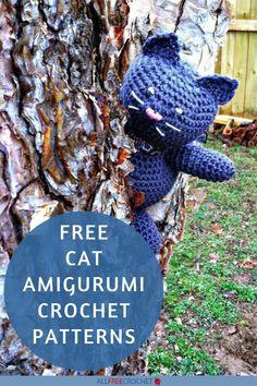15+ Free Crochet Amigurumi Cat Patterns Cat Amigurumi, Crochet Patterns Amigurumi, Yarn Crafts For Kids, Tiny Kitten, All Free Crochet, Cat Pattern, Crochet For Beginners, Garden Sculpture, Knitting