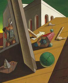 Giorgio De Chirico (1888-1978) L'amore del mondo (1960)oil on canvas 73 x 60.4 cm