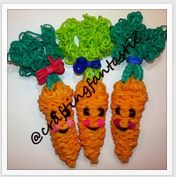 Rainbow Loom Happy Food Series - Carrot - FeelinSpiffy - CraftingFantastic The tutorials are on her Youtube page:) Rainbow Loom Tutorials, Rainbow Loom Creations, Loom Bands Disney, Loom Band Charms, Rainbow Loom Charms, Rubber Band Bracelet, Happy Foods, Projects To Try, Arts And Crafts