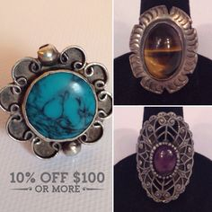 Vintage Rings Galore!  March Madness Sale! Get 10% off orders $100+ Coupon Code MARCH