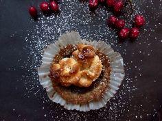 Weihnachtstörtchen mit Marzipan und Sanddorn (vegan und glutenfrei)