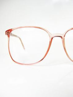 Pastel Pink Eyeglasses 1980s Womens Wayfarer Round Glasses Eyeglass Frames Bubblegum Baby Indie Hipster Girly Feminine 80s Oversized