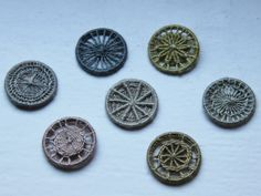 Dorset buttons in naturally dyed colours