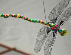 Dragonflies Craft - the wings are printed on acetate paper!