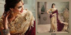 NEW DESIGNER INDIAN VELVET & NET SAREE WEDDING BRIDAL WOMEN BOLLYWOOD PARTY SARI #Handmade #SareeSari #BRIDALWEDDINGPARTYWEAR
