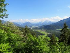 View of region around Reutte from trail Dreiländereck Austria, Winter, Trail, Beautiful Places, Hiking, Europe, Adventure, Mountains, Places