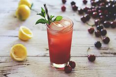 Honestly Yum: Bourbon Cherry Cooler