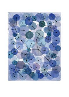 CIJ Sale Constellation Blue dots Archival by LouiseArtStudio, $46.00