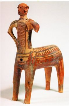 Centaur, from Lefkandi. 10th century BC. Terracotta. Height 14 ins (36cm). Eretria Museum