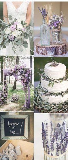 Lavender Wedding Colors, Spring Wedding Colors, Winter Wedding Flowers, Lavender Weddings, Lavender Wedding Decorations, Lavender Wedding Bouquets, Wedding Ideas Purple, Vintage Purple Wedding, Purple And Green Wedding
