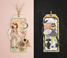 This tag is so sweet in both uses of the stamps/dies! It is too cute to be creepy! Created by Julie using the Catgirl set SKU #961638.
