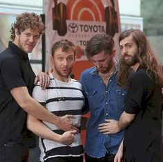 Imagine Dragons on the Today Show. Hahaha this picture shows why I love them! Even though they're famous, they're still just normal people with a great sense of humor