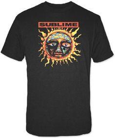 Sublime T-shirt - Sublime Sun Logo from 40 Oz. to Freedom Album Cover. Men's Black Shirt
