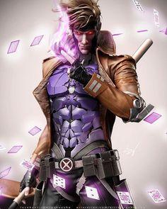Gambit - X-Men °° one of my favorite mutants! Gambit Marvel, Gambit X Men, Rogue Gambit, Hq Marvel, Marvel Comics Art, Marvel Heroes, Captain Marvel, Comic Book Characters, Comic Book Heroes