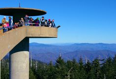 High atop #ClingmansDome in the Great Smoky Mountains National Park