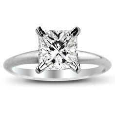Princess Cut Wedding Rings | ... princess Cut Diamond Engagement Solitaire Ring GSI1 - Discount Diamond