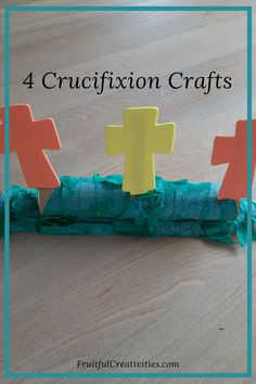 Are you looking for a great way to teach your kids about God's love? Teach them about Jesus' death and resurrection! #easter #crucifixion #resurrection #jesusdeath #eastercraft #biblecrafts #kidscrafts Jesus Crafts, Bible Crafts For Kids, Glue Crafts, Preschool Crafts, Easter Crafts, Bible Activities, Activities For Kids, Play Doh Colors, 4 Kids
