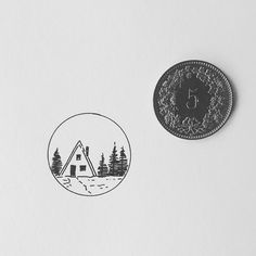 Number four of this week's series of tiny drawings.  Off to the mountains tomorrow   Let me know what you are up to!  My shop with prints and originals and STICKERS!!! http://ift.tt/2jfRKg7 . . .  #illustration #illustrations #drawing #draw #sketchbook #artwork #artworks #instaart #instaartist #traditionalart #artoftheday #artsy #handdrawn #illustrate #kunst #artdiscover #artistofinstagram #inkstagram #iblackwork #blackworknow #linedrawing #swissartist #blackworkillustrations #cabin…
