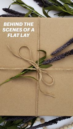 Flat Lay Photography, Diy Garland, Contact Paper, Gift Packaging, Seasonal Decor, Twine, Natural Light, Behind The Scenes, Lavender