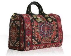 ShopStyle: Gucci red tapestry 'Babouska' medium boston bag