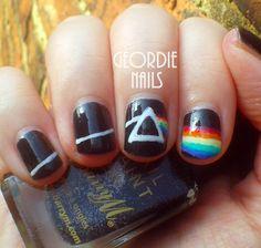 Pink Floyd Manicure - Geordie Nails