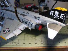 "1/32 F-4J Phantom II, VF-84 ""Jolly Rogers"" Scale Models, Airfix Models, Model Hobbies, Military Life, Model Airplanes, Model Ships, Plastic Models, Military Aircraft, Fighter Jets"