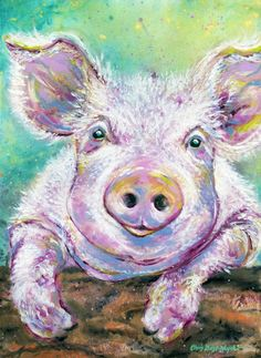 Baby Pig Looking Out the Pen Art Print by Keast-Woyde Art Studio | Society6