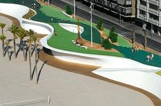 Carlos Ferrater : Office of Architecture in Barcelona : OAB : West Beach Promenade : Benidorm : Spain Landscaping Near Me, Modern Landscaping, Landscape And Urbanism, Urban Landscape, Beach Landscape, Eco Architecture, Contemporary Architecture, Landscaping Software Free, Lanscape Design