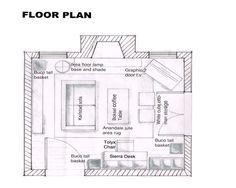 E-Decorating Living Room Interior Design Floor Plan  #fs4703 TEKS 130.43 Interior Design 4 B