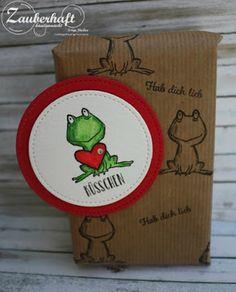 Zauberhaft-handgemacht:  Zum Valentinstag , Herzen, Frosch, Love you lots, Liebe, Verpackung, Schokolade, Tablettenspender