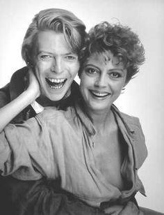 Susan Sarandon & David Bowie : Susan Sarandon : The Hunger : Photo Susan Sarandon, David Bowie, Debbie Harry, Pop Rock, Rock And Roll, David Bailey, The Thin White Duke, Romantic Films, Grace Jones