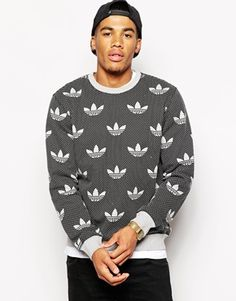 Adidas Originals Trefoilated Crew Sweatshirt
