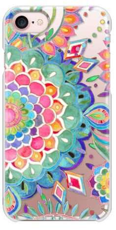 Casetify iPhone 7 Snap Case - Color Celebration Mandala - clear by Micklyn Le Feuvre