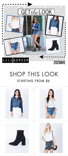 """""""Celeb Style Steal: Kaia Gerber"""" by shop2020ave ❤ liked on Polyvore featuring Oris, Gerber, Cello, casual, denim, weekend, 2020ave and KaiaGerber"""