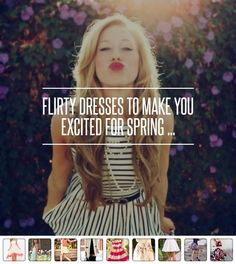 #Flirty Dresses to Make You #Excited for Spring ... → #Fashion #Blush