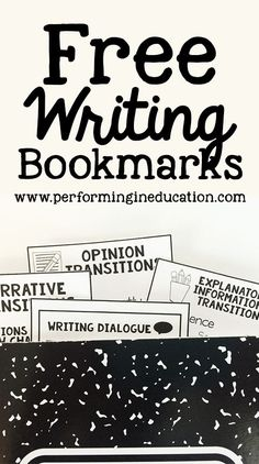 Free writing bookmar