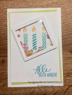 Stempelset Perfekter Geburtstag und DSP von Stampin' UP! - Picture Perfect Birthday card using supplies from Stampin' Up!