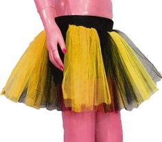 Yellow Black Stripe Tutu Skirt For Dance Party Ruffled Tulle Skirt adult Bumble Bee fancy costumes